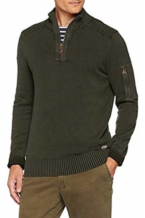 Camel Active Men's Stand UP GMT Dyed Jumper