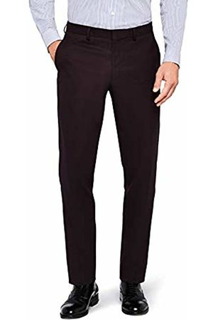 Hem & Seam Men's Slim Fit Textured Formal Trousers