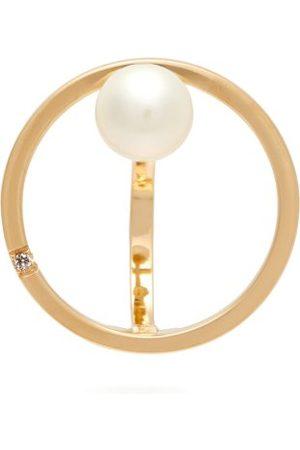 Delfina Delettrez Women Earrings - Small Bubble 18kt , Pearl And Diamond Earring - Womens