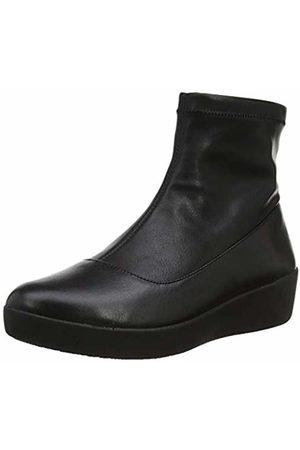 FitFlop Women's OTTIE Sock Faux - Leather Ankle Boots ( 001)