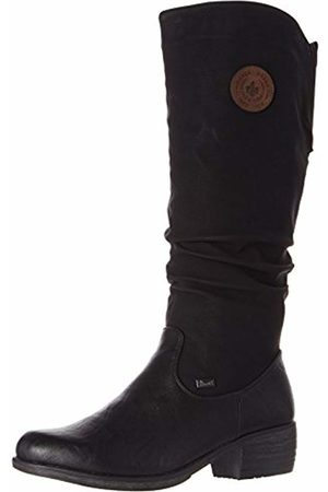 Rieker Women's 93157 High Boots, Schwarz/Kastanie 00