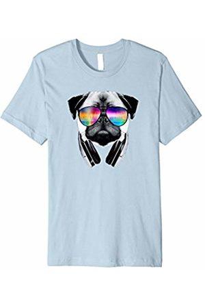 Pug Dog Tunes Trippy Pug Dog Wearing Music Equalizer Sunglasses T-Shirt