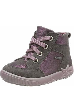 Superfit Baby Girls' Starlight Trainers, (Grau/Rot 20)
