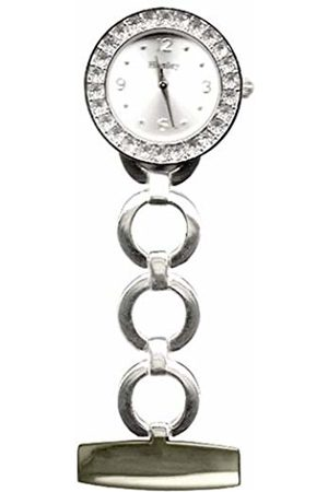 Henley Polished chrome crystal fob watch