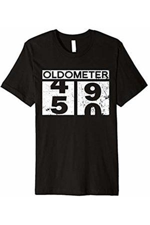 Birthday Gift Funny Shirts Oldometer 50 Shirt 50th Men Women