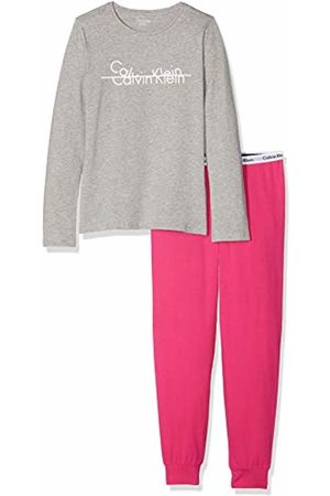 Calvin Klein Girl's Knit Pj Set (ls+Cuffed) Pyjama
