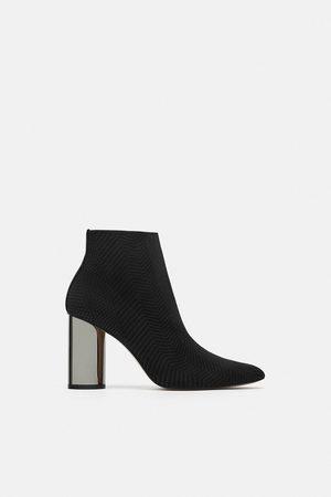 ea0ca51f238 Zara in-fabric women s boots