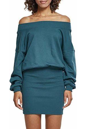Urban classics Women's Ladies Sweat Off Shoulder Dress