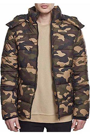 Urban classics Men's Hooded Camo Puffer Jacket