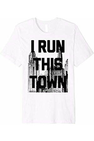 Running t shirt I Run This Town Athletic Running Graphic T-Shirt