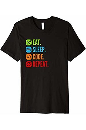 Funny Eat Sleep Code Repeat Tee Shirts Eat Sleep Code Repeat Tee Shirt Gift Programmers