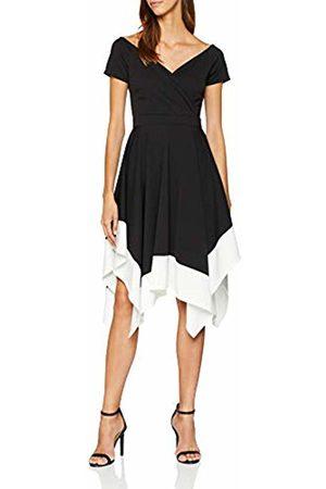 Quiz Women's Marcella Bardot Trim Asymetric DIP Hem Dress Skirt (Manufacturer Size:18)
