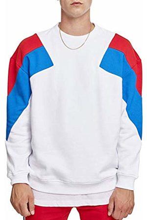 Urban classics Men's Oversize 3-Tone Crew Sweatshirt