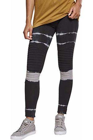 Urban classics Women's Ladies Striped Tie Dye Biker Leggings