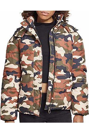 Urban classics Women's Ladies Boyfriend Camo Puffer Jacket