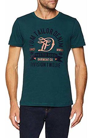 Tom Tailor Men's T-Shirt Mit Druck (Deep Lake 10834)