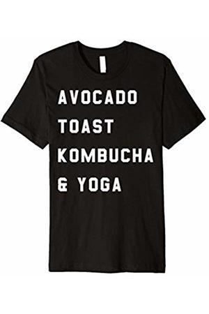 Workout T-Shirt Avocado Toast Kombucha & Yoga Premium T-Shirt