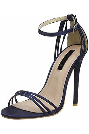 Lost Ink Women's Faye Barely There (Wide Fit) Open Toe Heels
