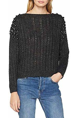 Molly Bracken Women's Ladies Knitted Sweater Premium Jumper, Gris Dk