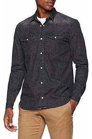 Won Hundred Men's Steffen Washed Casual Shirt (Denim Vintage )