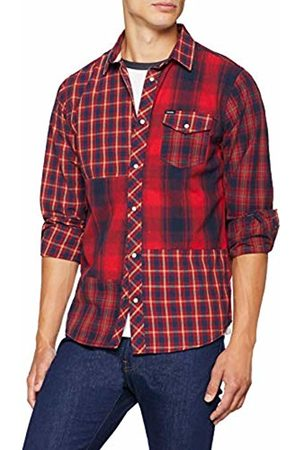 Kaporal 5 Men's FILOR Casual Shirt, Rouge Neored
