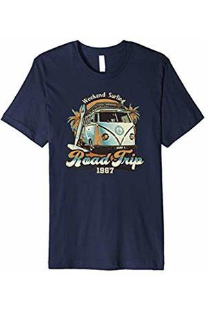 Weekend Surf Tees Road Trip 1967 - Retro Camper Surfer T-Shirt