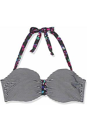 s.Oliver Women's Bügel-Bandeau-Top JPF-48 Bikini (Schwarz-weiß Gestreift 12343)