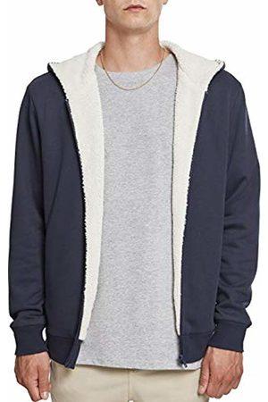 Urban classics Men's Sherpa Lined Zip Hoodie Track Jacket