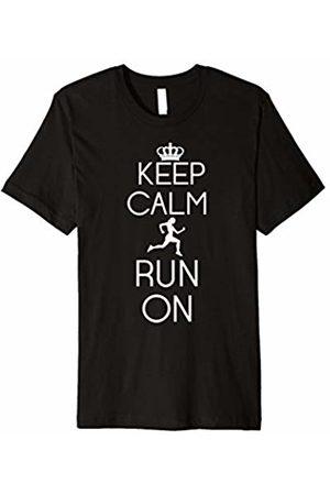 Running t shirt Keep Calm Run On Athletic Running Graphic T-Shirt