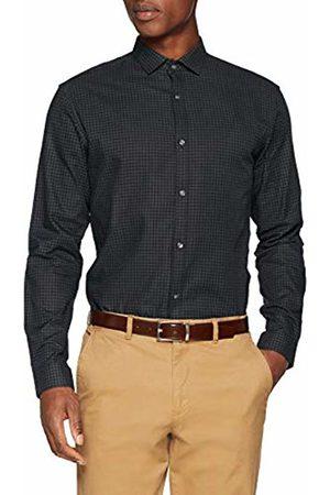 Jack & Jones Premium Men's Jprharrison Shirt L/s Plain Formal, (Scarab Slim Fit)