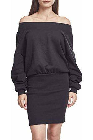 Urban classics Women's Ladies Sweat Off Shoulder Dress ( 00007)