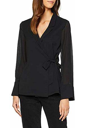 Lost Ink Women's TIE Detail WRAP Shirt Blouse ( 0001) (Manufacturer Size:10)
