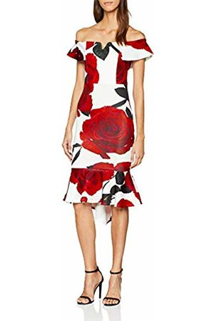 Quiz Women's Rose Frill Dipped Hem Party Dress (Manufacturer Size:10)