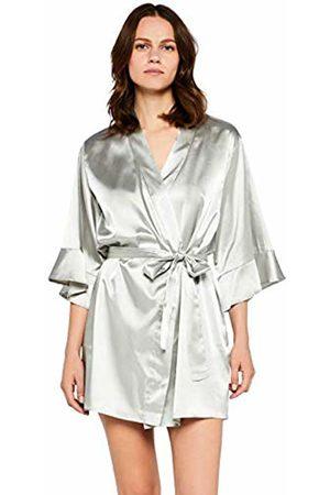 IRIS & LILLY Satin Ruffle Midi Kimono
