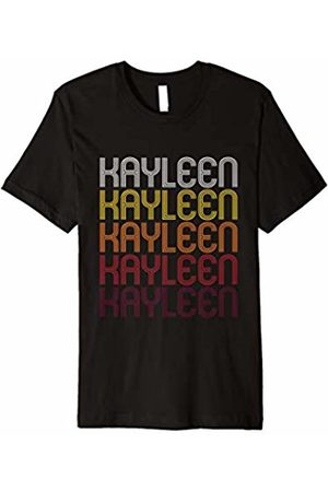 Ann Arbor T-shirt Co Kayleen Retro Wordmark Pattern - Vintage Style T-shirt