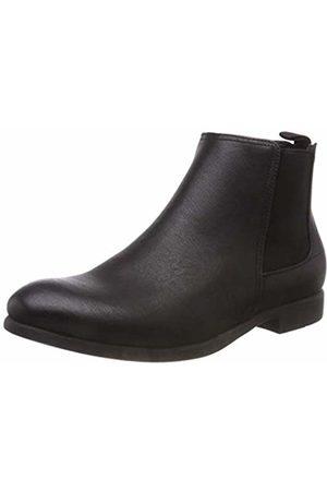 Jack & Jones Men's Jfwabbott Pu Chelsea Boots, Anthracite