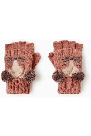 Zara FLAP COVER MITTEN GLOVES WITH FACE
