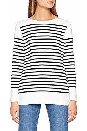 Armor.lux Women's Mariniere AMIRAL T - Shirt, Multicolore Bi9 Blanc/Rich Navy