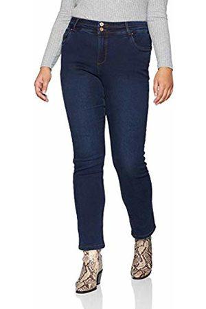 Simply Be Women's Shape & Sculpt Straight Leg Jeans, (Indigo)