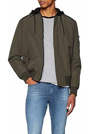 New Look Men's MA1 5872531 Coat, (Dark Khaki)