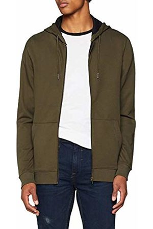 Only & Sons Men's Onsbasic Sweat Zip Hoodie Brushed Noos Jacket, Forest Night