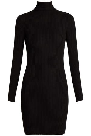 Wolford Women Knitted Dresses - Rib-knitted High-neck Dress - Womens