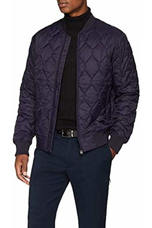 French Connection Men's Super SKI Patchwork Jacket, (Blueblue/M.Moss )