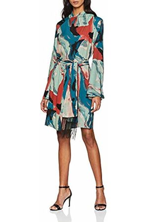 Won Hundred Women's Elena Party Dress, (Abstract Watercolor Print)