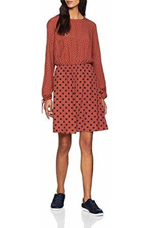 warehouse Women's Mixed Spot Print Dress, (Tan)