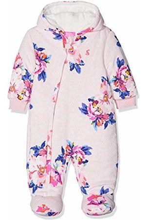 Joules Baby Girls' Snug Snowsuit ( Marl Granny Floral Pkmgrfl) Months (Manufacturer Size:6-9)