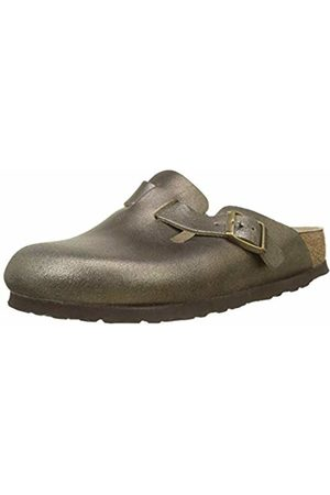 Birkenstock Women''s Boston Clogs, Washed Metallic Antique