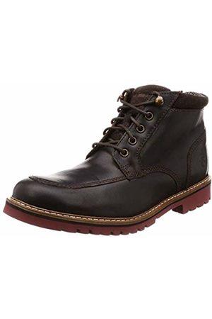 Rockport Men's Marshall Rugged Mock Toe Boot Classic, Dark Bitter Chocolate