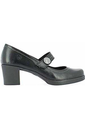 Yokono Women's Dana Closed Toe Heels, (Negro 004)