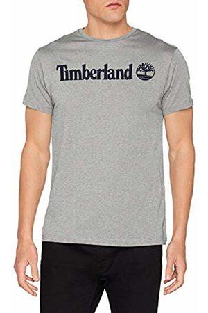 Timberland Men's Ss Crew Linear Logo Tee T-Shirt (Medium Heather 052)
